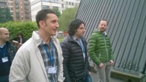 Gli amici di ADAA Dott. Andrea Melis del radiotelescopio Sardinia e il Dott. Pierpaolo Pari che elabora la KLT